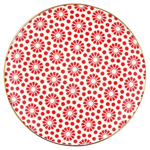 GreenGate-Kelly-red-with-gold-plate