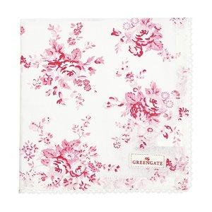 GreenGate Abelone Raspberry Cotton Napkin