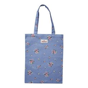 GreenGate Shopper / Bag cotton Nicoline Dusty blue 35x45cm