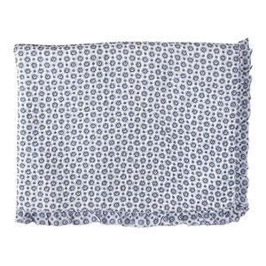 GreenGate Quilt / Bed cover Erin petit blue w/frill 140x220cm