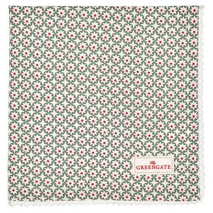 GreenGate Servet / Napkin with lace Lara Green 40x40cm