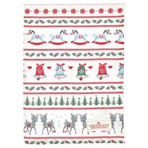 GreenGate Theedoek / Tea towel Bambi White 50x70cm