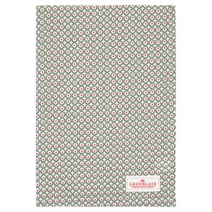 GreenGate Theedoek / Tea towel Lara Green 50x70cm
