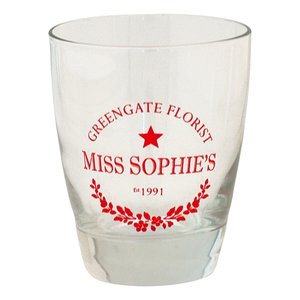 GreenGate Glas / Water Glass Sophie Red H:9,5cm