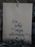 Geurzakje Lavendel met tekst Een zakje voor mijn Schoonzus